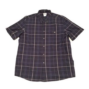 Lacoste Plaid Short Sleeve Button Up Size 42 XL